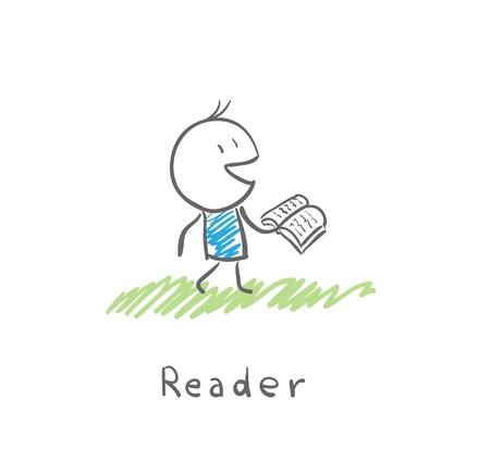 reader Stock Vector - 14579874