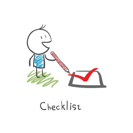 true false: Checklist Illustration