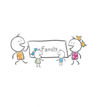A family of four Stock Vector - 14579894