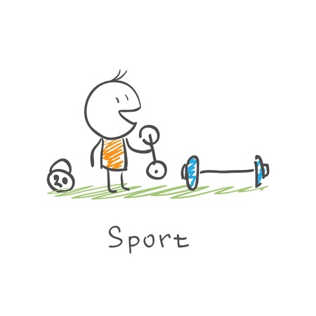 Man in sports Vectores