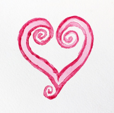 blessing: Abstract watercolor heart
