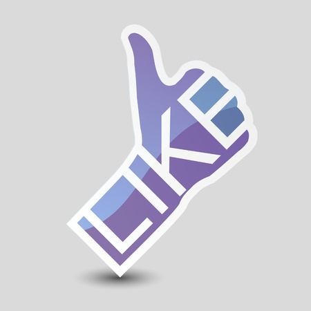 validate: Thumb Up  Social media and network concept  Illustration