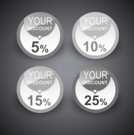 Discount labels   Vector
