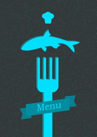 restaurant menu poster Vector