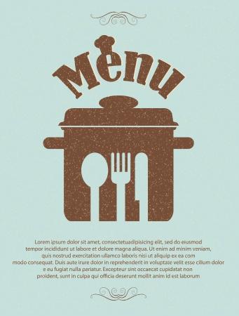 Restaurant-Menü Retro-Plakat Standard-Bild - 14709864