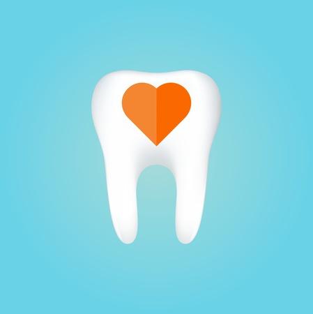dientes con caries: Diente en la ilustraci�n de fondo blanco
