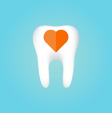 stomatology icon: Tooth On White Background   Illustration