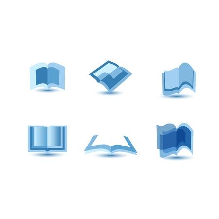 illustratie van blauwe boek iconen