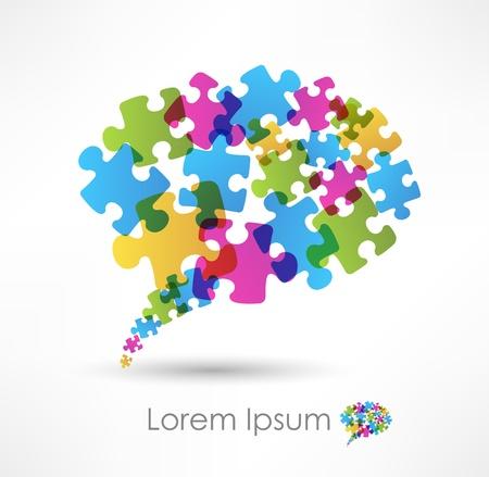 integrer: bulle faite de puzzle