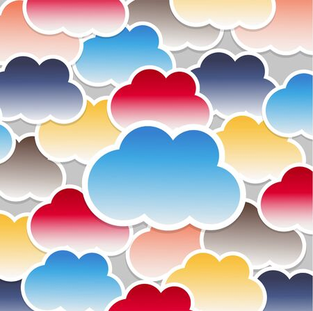 Clouds background Stock Vector - 14792165