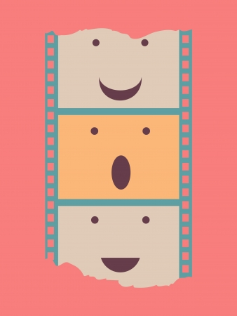 film strip poster Vector