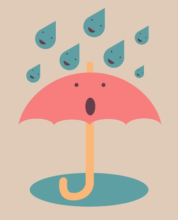 Umbrella poster Stock Vector - 14792161