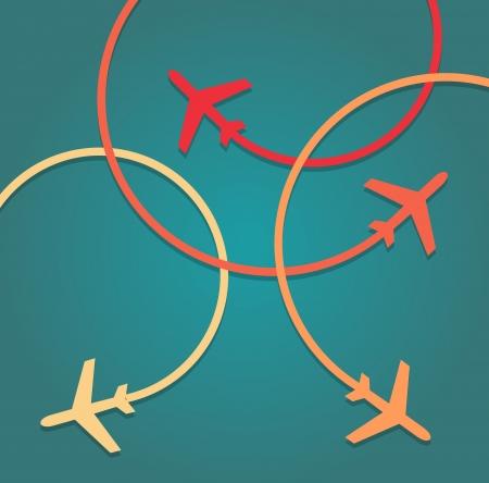 Achtergrond van het vliegen vliegtuigen