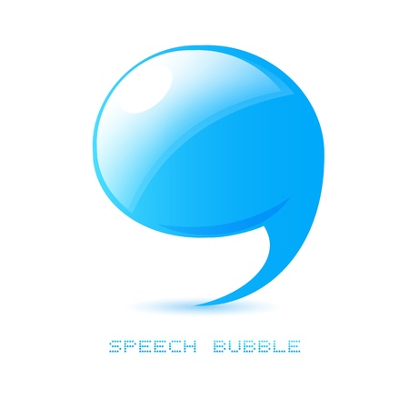 accent: abstract talking bubble Illustration