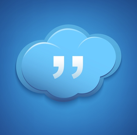 Cloud computing concept sign  Blue sky  Vector