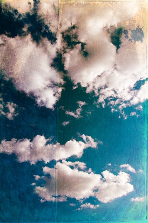 Grunge clouds background photo