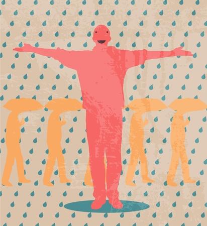 sopping: Rain Man Illustration