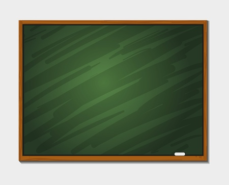 Chalkboard blackboard with frame isolated Stock Vector - 14792205