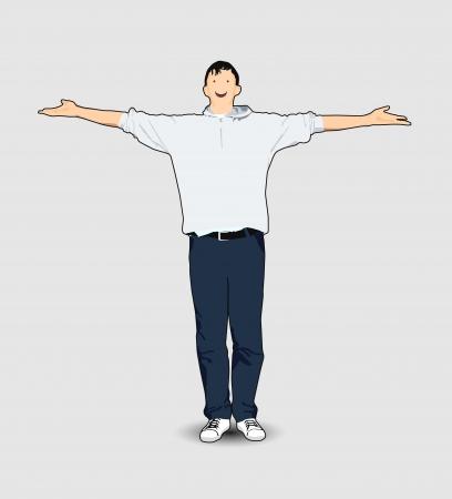 Homme avec ses mains Banque d'images - 14792194