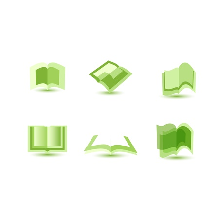 illustration of book icons Illustration