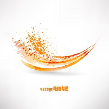 추상 오렌지 물결