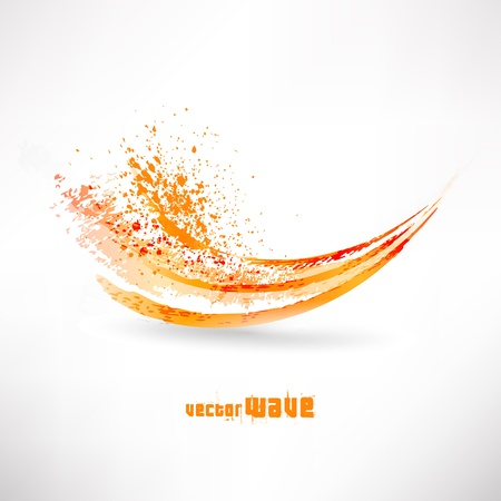 abstract orange wave Stock Vector - 14990147