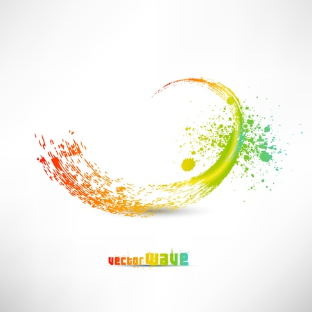 Color paint splashes Stock Vector - 14990144