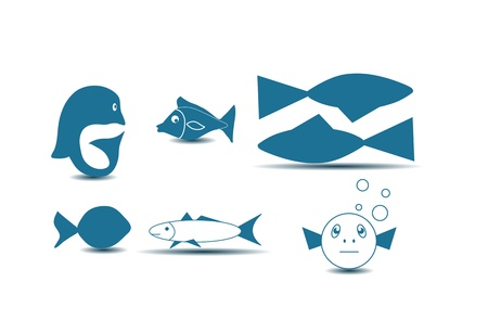 Fish Icons Stock Vector - 15127653
