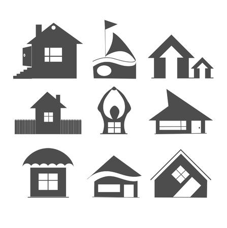 Houses icons Banco de Imagens - 15127651