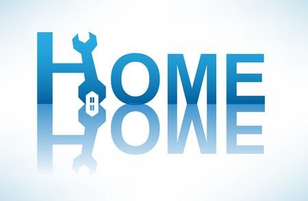 reparaciones en el hogar. imagen conceptual Ilustración de vector