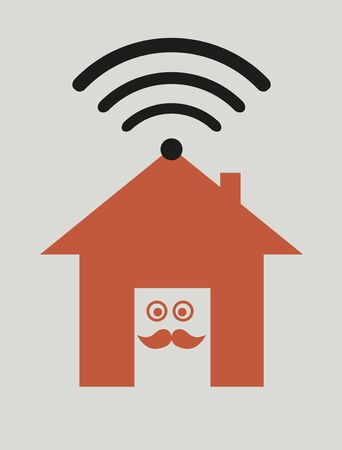 Home wireless connection Vector
