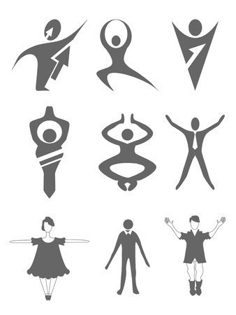 set of people icons Stock Vector - 15127654