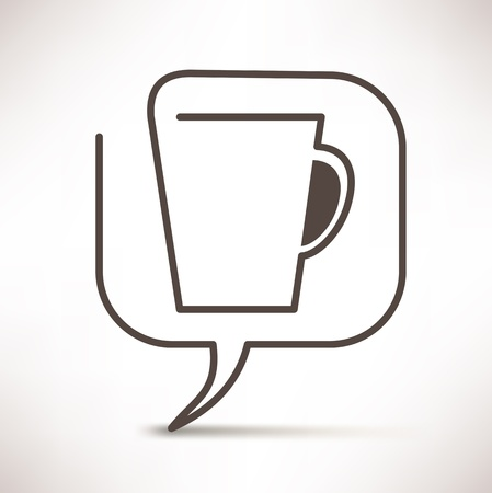 cup of coffee concept speech bubbles Illustration