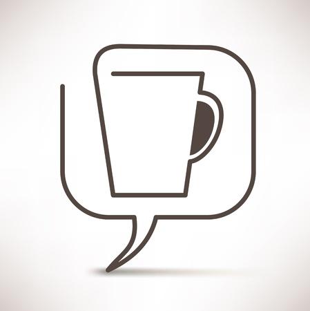 hablando: taza de caf� del habla burbujas concepto