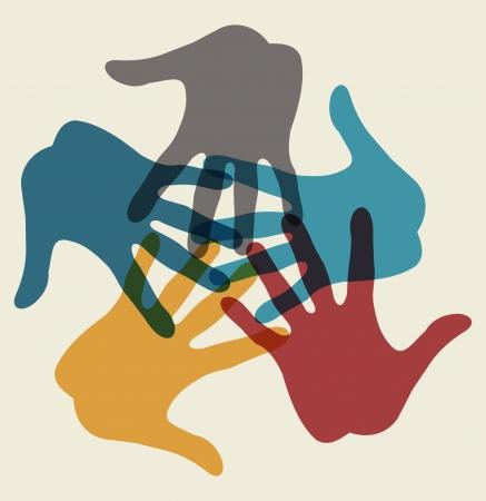 earth in hand: manos que conectan Vectores