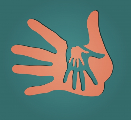 Caring hands Vector
