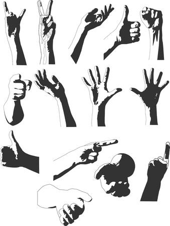 grope:  hands