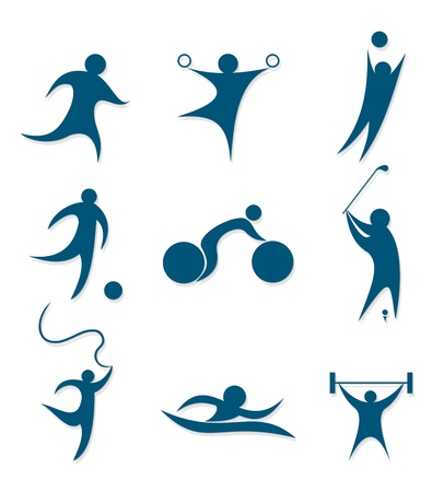 icons sports  Stock Vector - 15179154