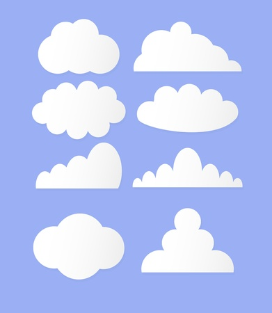 illustration of clouds collection 矢量图像