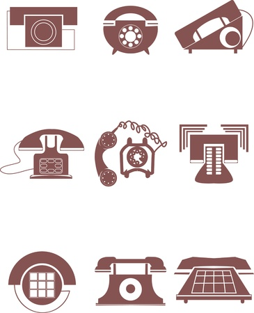 phone button: old phone icons