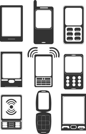 mobil: Mobile phone icons