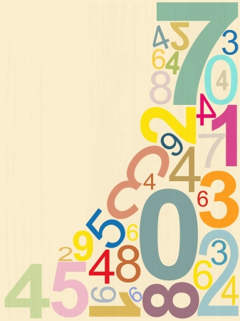 educational materials: background numbers Illustration