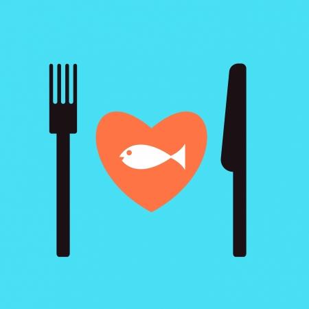 fish restaurant menu. Vector