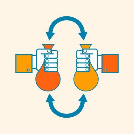Money exchange concept Ilustrace