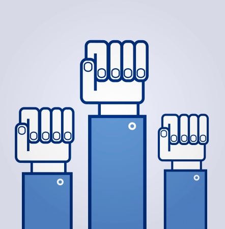 Fist. Symbol of revolution Vector