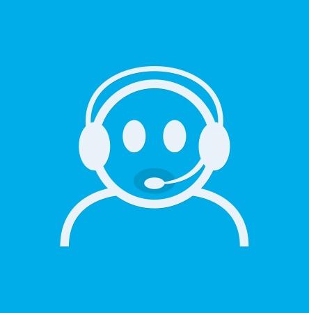soutien: Contacter casque. Live Help. Soutien ic�ne. Vecteur Illustration