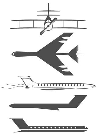 airplane symbols Ilustrace