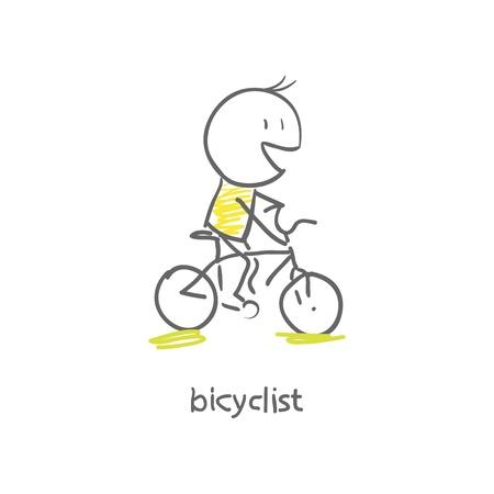 decorated bike: ciclista