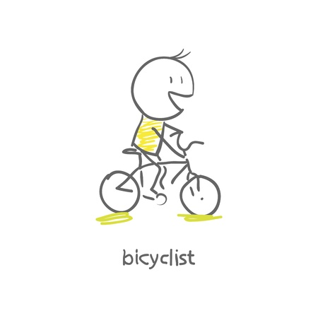 health and fitness: cyclist Illustration