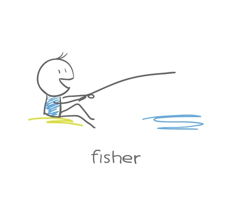 fly fishing: Fisherman